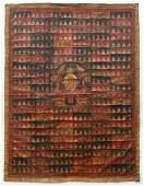 Tibetan Thangka Prajnaparamita with 500 Buddhas