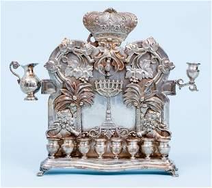 Norblin Polish Menorah 19th century Silverplate