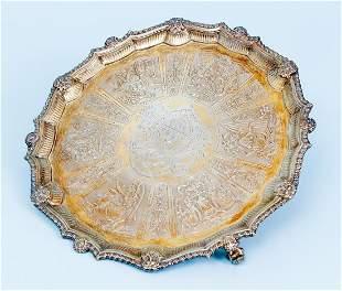 Thomas Heming Virtute Silver Tray 1749