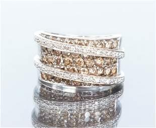 18K Black and White Levian Diamond Ring