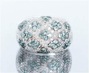 14K Gold Levian Diamond Alexandrite Ring