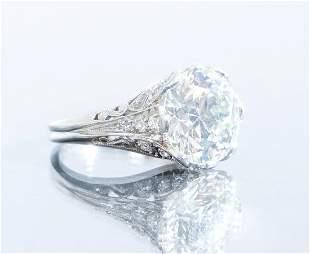 5.2ct Art Deco Diamond Plat/18K Ring