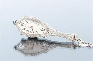 Art Deco Diamond Case Pendant Watch
