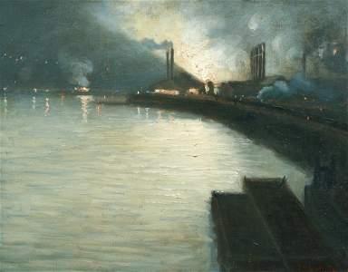 Aaron Gorson oil Steelmaking Nocturne