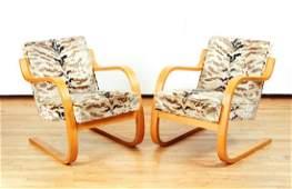 Pair Alvar Aalto 402 vintage Chairs