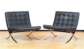 Pair Mies van der Rohe Barcelona Chairs