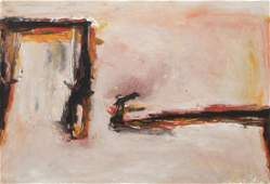 Tom Lieber 1986 Abstract painting on paper