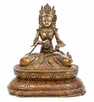 Tibetan Bronze Figure of Vajrasattva