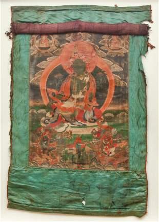Tibetan Thangka Shyama Green Tara