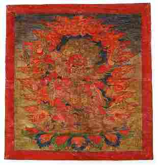 Tibetan Thangka Hayagriva Wrathful Buddhist