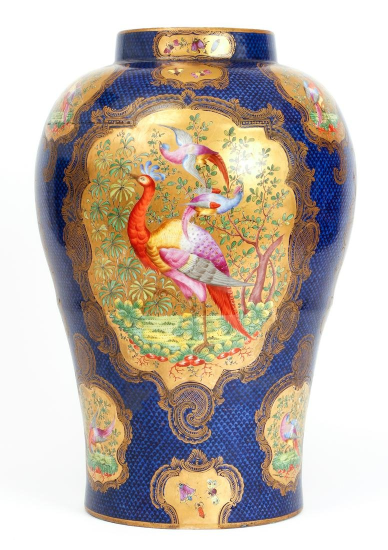 Large Antique Chelsea Porcelain Vase