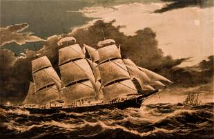 Currier Ives Dreadnought Clipper Ship