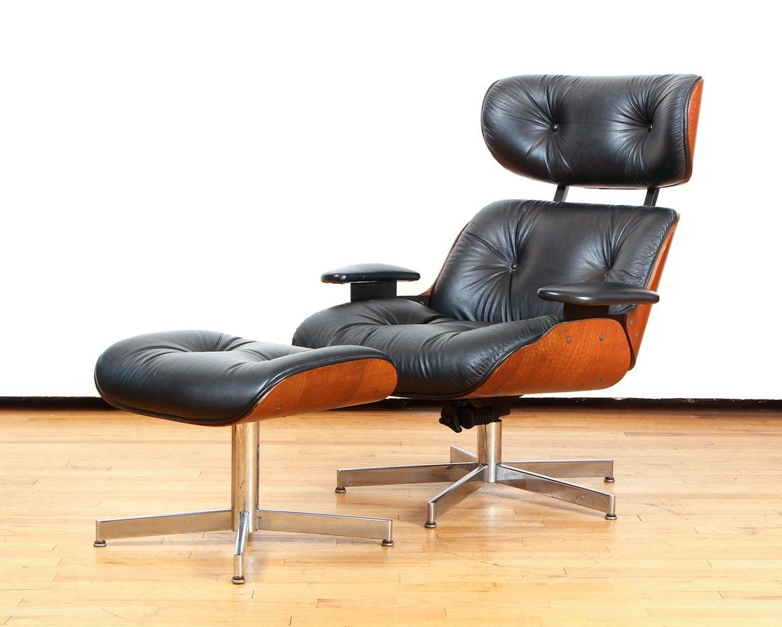 Mid Century Eames Lounge Chair Reproduction