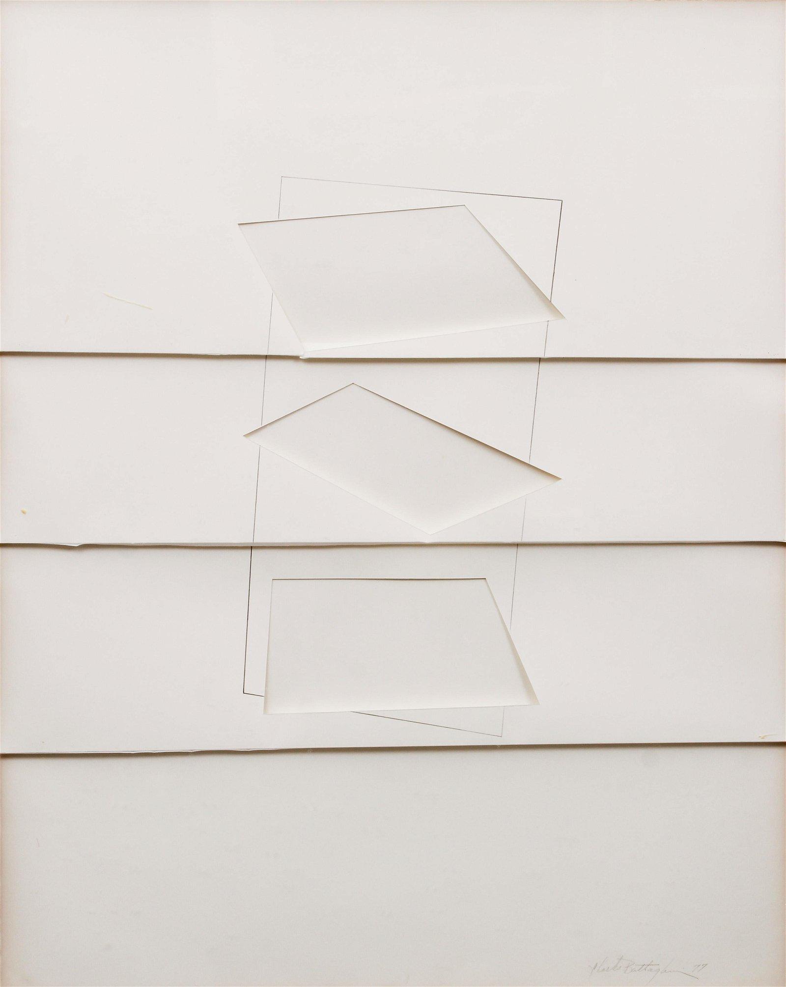 Charles Battaglini Geometric on Paper