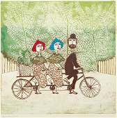Mireille Kramer Signed Litho Bicycle