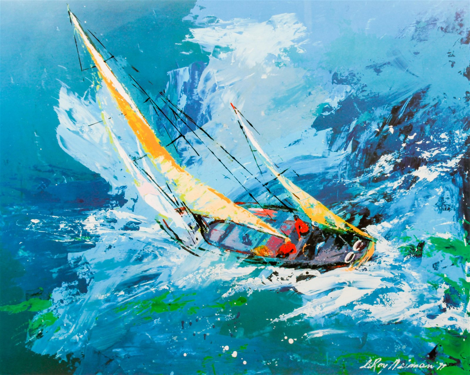 LeRoy Neiman signed Sailing Poster
