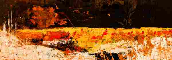 Tinker 1959 oil Abstracted Landscape
