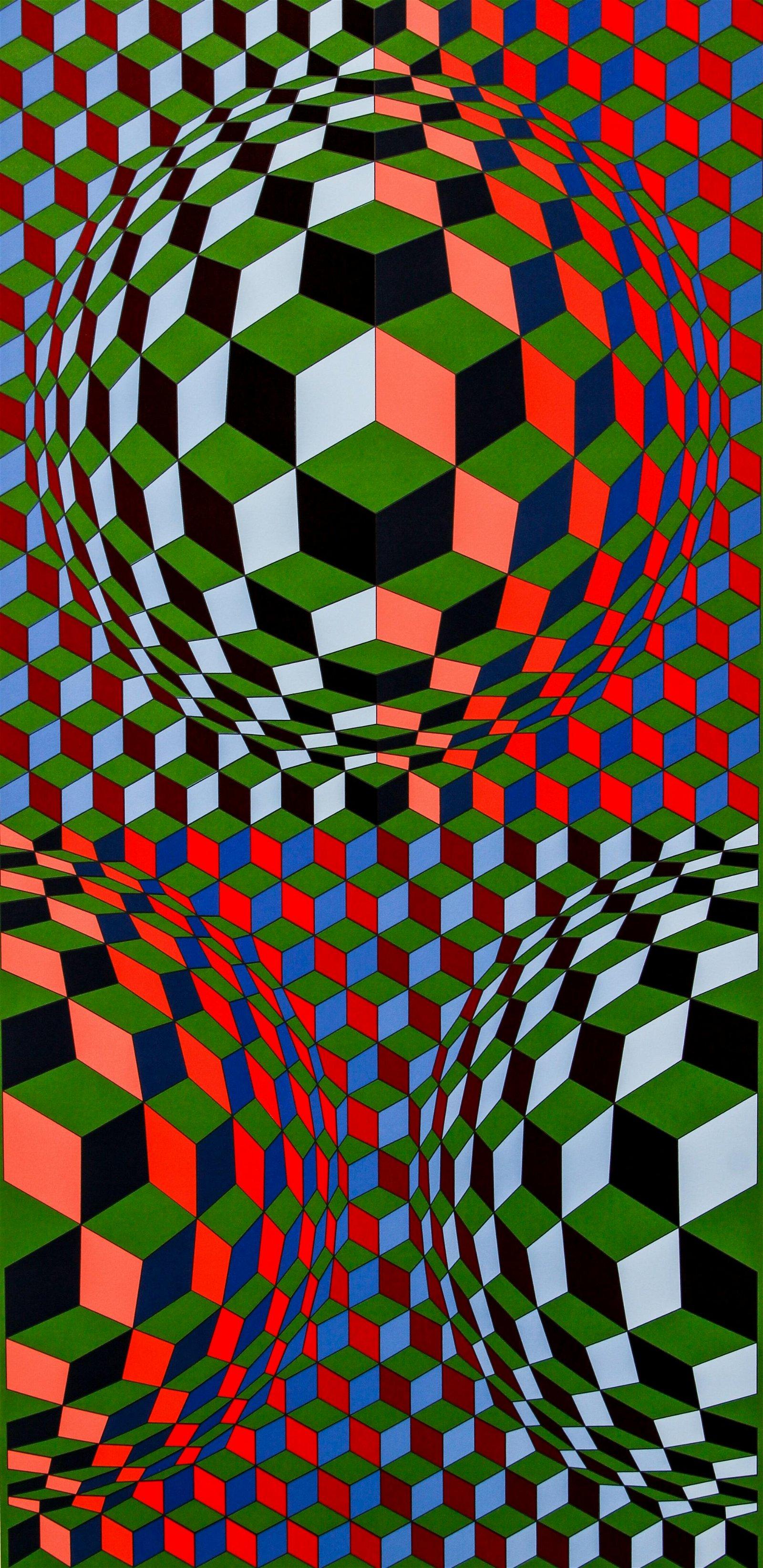 Victor Vasarely 1969 orig serigraph Nadir