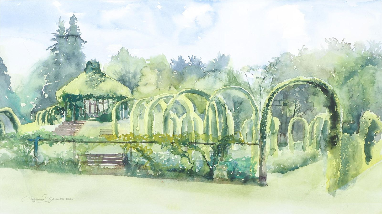 Lauren Zarambo Elizabeth Park Watercolor Ptg