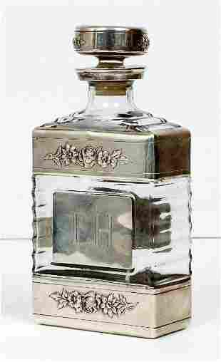 Sterling Silver encased Brandy Decanter