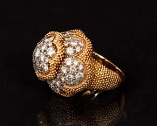 Cartier 18K Diamond Dome Ring