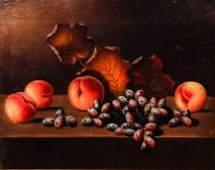 Barton Hays Still Life Grapes, Peaches, and Autumn