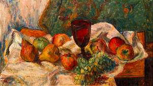 Joseph Schepp painting The Red Goblet