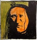 Leonard Baskin Short Bull orig lithograph