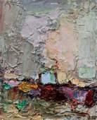 Lois Kaufman oil Abstracted Landscape