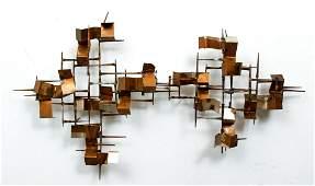 William Bowie Brutalist metal wall sculpture