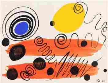 Alexander Calder Untitled 1956 gouache