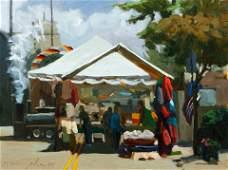 Ron Donoughe Shadyside Street Fair Oil Ptg