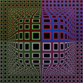 Victor Vasarely pencil signed Op Art serigraph