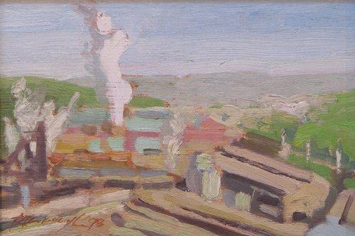 16: Ron Donoughe Pair of Edgar Thompson Works ptgs