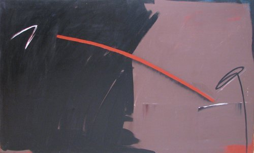 19: Rachel Farley Abstract ptg  Black and Brown II