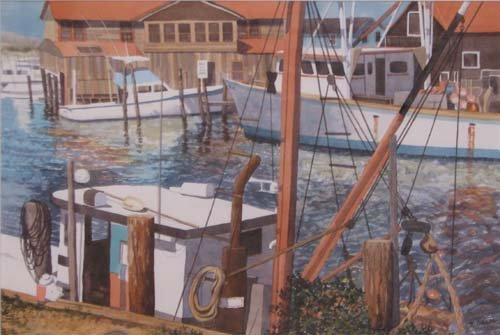 "20: Nancy Galm ""Fishing Harbor"" watercolor"