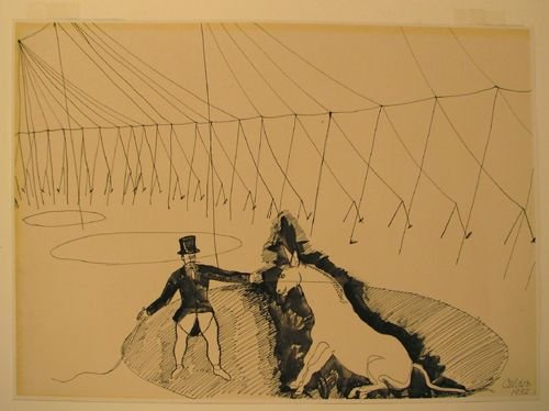 141A: Alexander Calder Circus Drawing Offset Litho