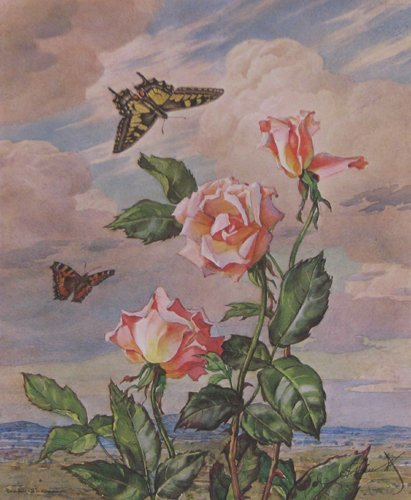 503: Andrey Avinoff Roses & pr. Framed OrisonMacPherson
