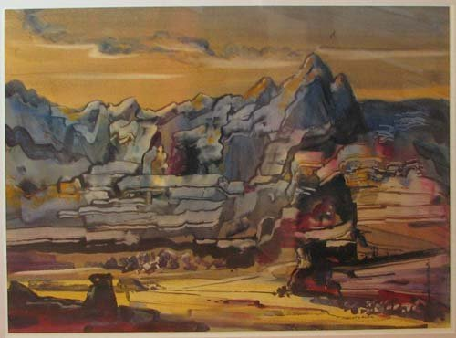 504: Robert Noel Blair landscape WC