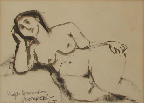 506: 2 Latin American Nude Figure Drawings
