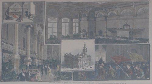 514B: 4 framed 19th Cent illustrated News Chicago