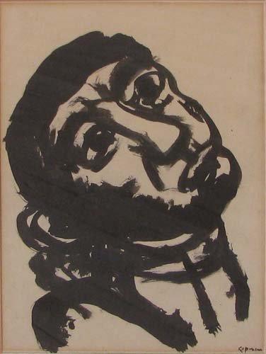 519: Benjamin Kopman drawing The Head of a Man