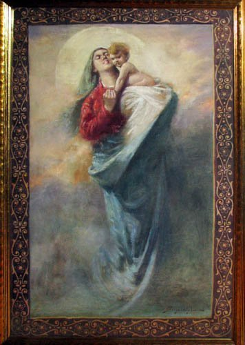 677: Madonna and Child ptg