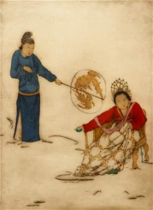 Elyse Ashe Lord Original Asian Etching