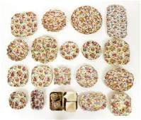 Assorted Chintz porcelain Du Barry and others