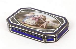 European Painted Porcelain Box
