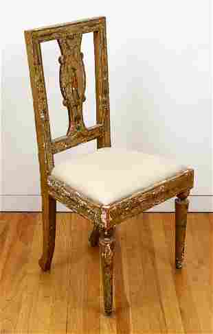 Painted Wood French Side Chair