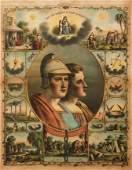 19th century colored Odd Fellows litho