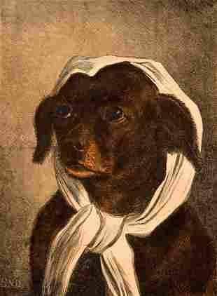 3 framed prints: 2 Hunt 1 Dog