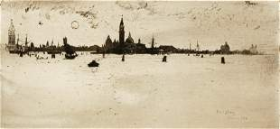 Joseph Pennell Venice from the Sea Etching 1883